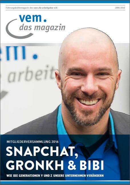 Felix Beilharz im Führungskräftemagazin von vem.die arbeitgeber e.V.