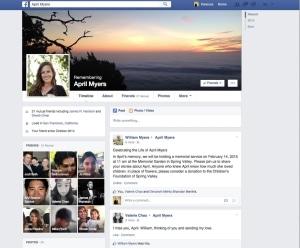 Erinnerungs-Account einer verstorbenen Facebook-Nutzerin (Quelle: newsroom.fb.com)