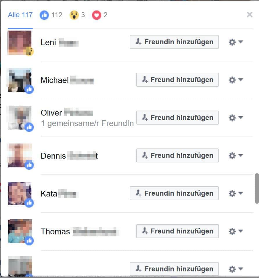 """liker"""" einladen funktion auf facebook weggefallen?, Einladung"""