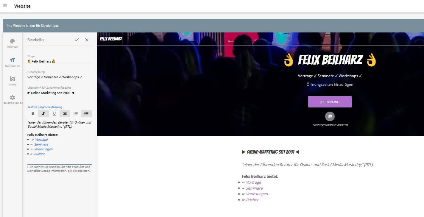 Website erstellen mit Google MyBusiness – so funktioniert\'s