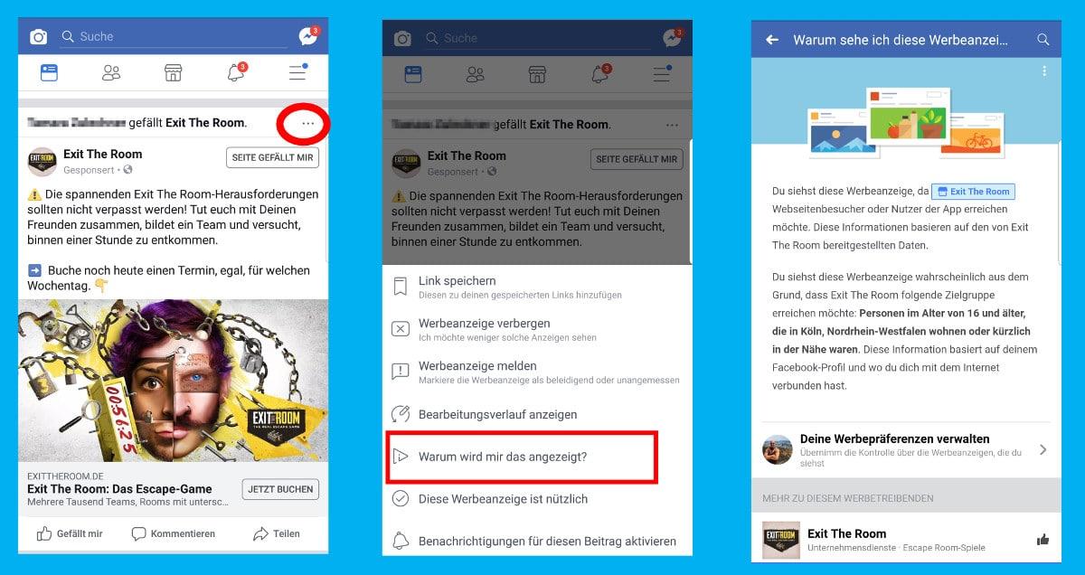 Anzeigen Aus Sicht Von Facebook