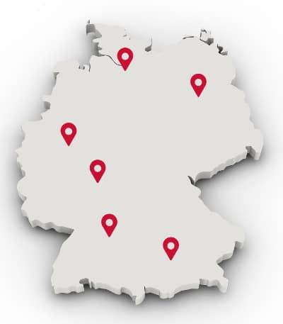 Standorte des SEO Seminars in Frankfurt, Köln,Stuttgart, Hamburg, München und Berlin