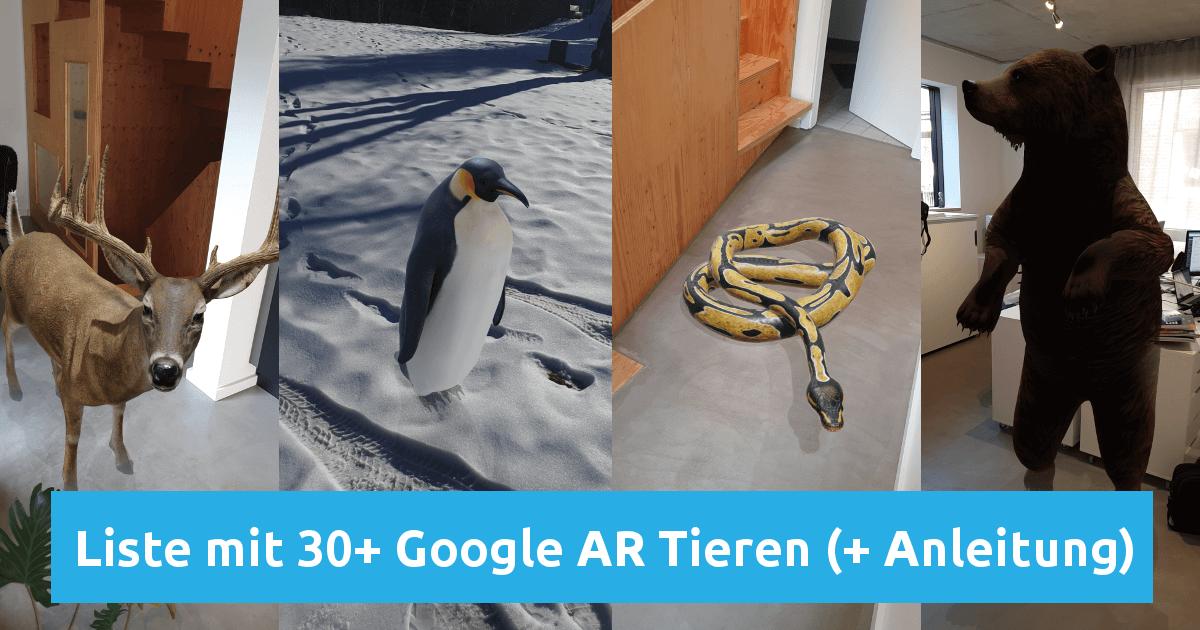 Google 3d Tiere Liste