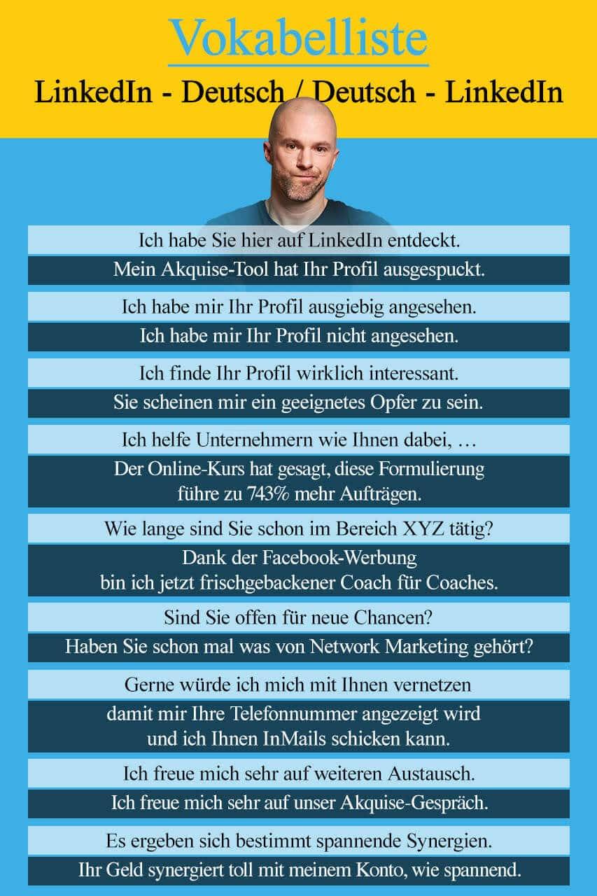 Wörterbuch LinkedIn - Deutsch